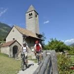 Shooting TM Naturns E-Bike Manuela Christian Prokulus Kirche Radweg 17-08-2012