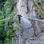 Der Klettergarten Hoachwool am Eingang des Schnalstales