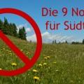 Nogos für Südtirol