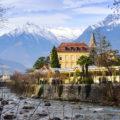 View of Merano village, Sud Tirol, Trentino Alto Adige, Italy