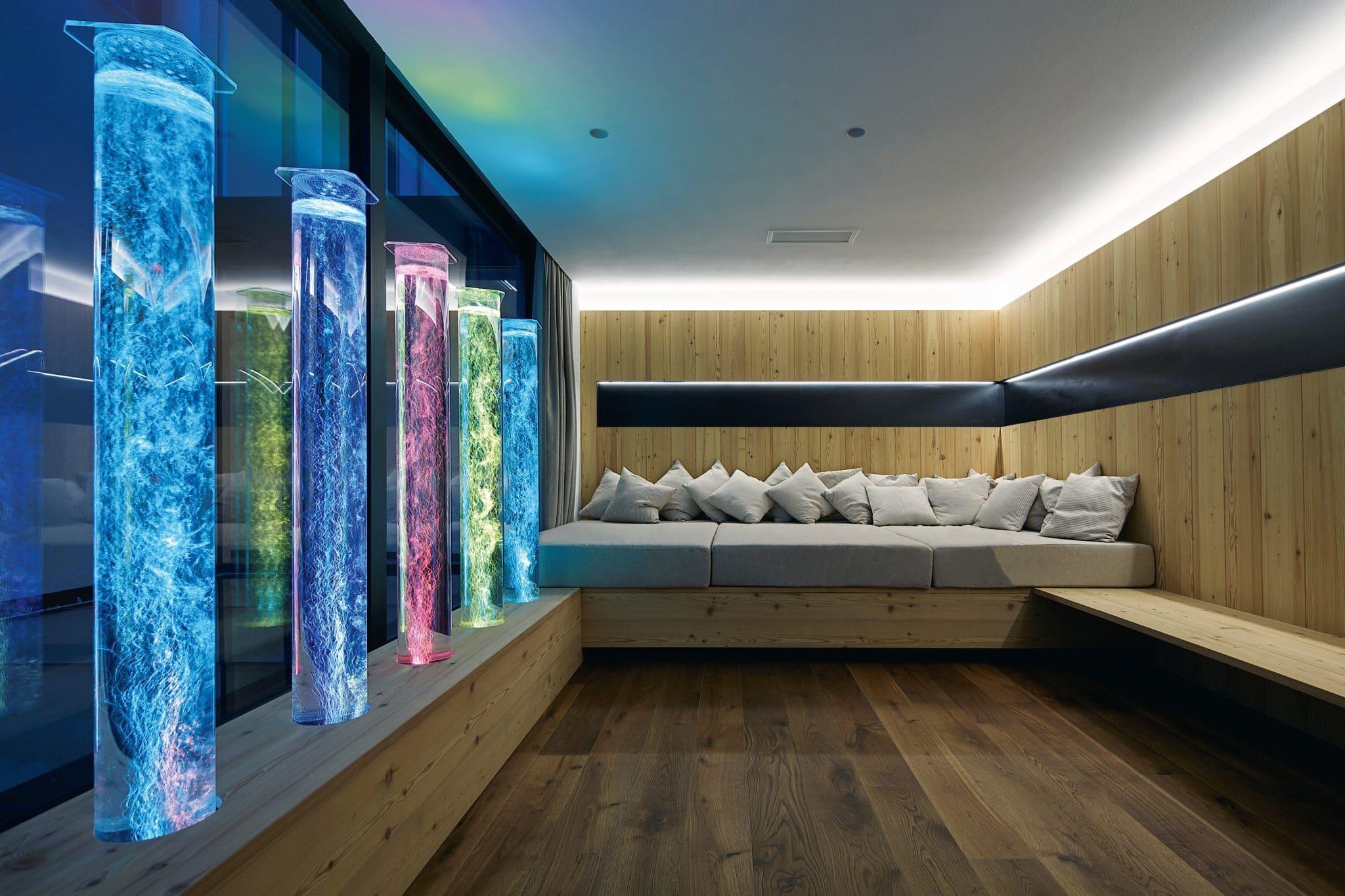 Der neue Snoezelenraum im DolceVita Resort Lindenhof in Naturns