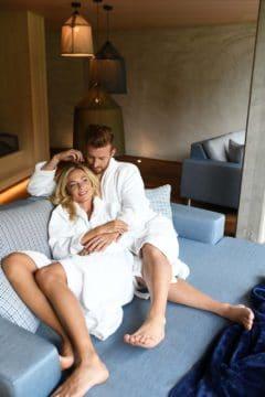 Entspannen zu Zweit in den neuen Relaxräumen  des DolceVita Resort Lindenhof