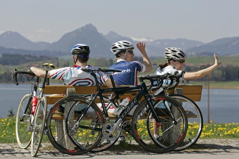 Pause am See - Rennradreise in Südtirol - Italien