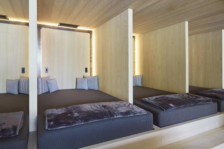 Ruheräume in der Sauna-Landschaft