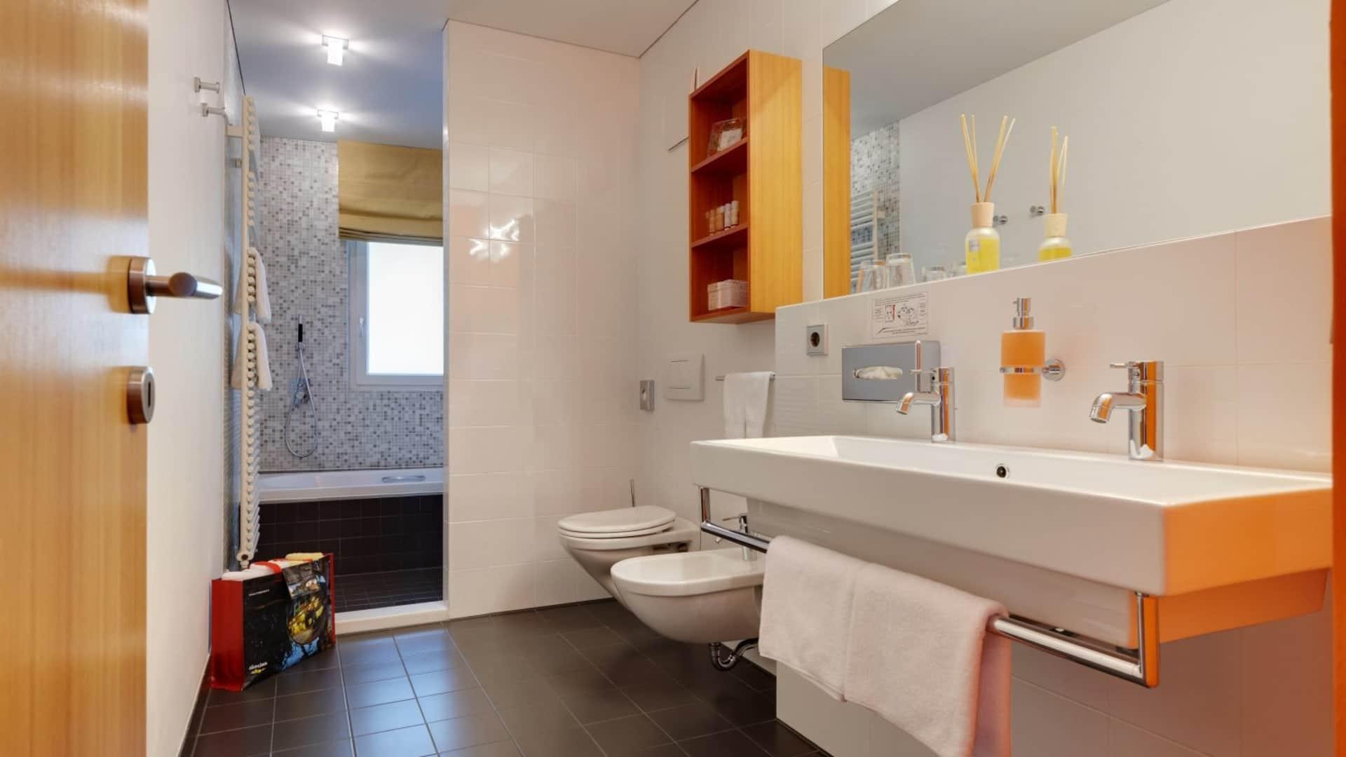 Reschensuite Badezimmer - Lindenhof