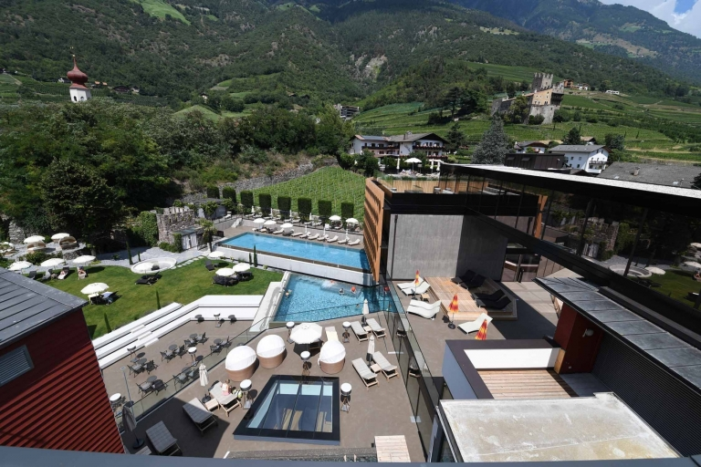 Übersicht der Hotelanlage - Lindenhof in Naturns bei Meran