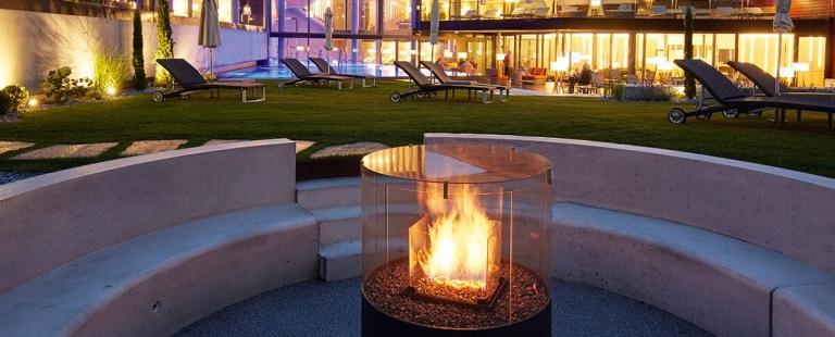 Feuerstelle im Garten des Lindenhofs