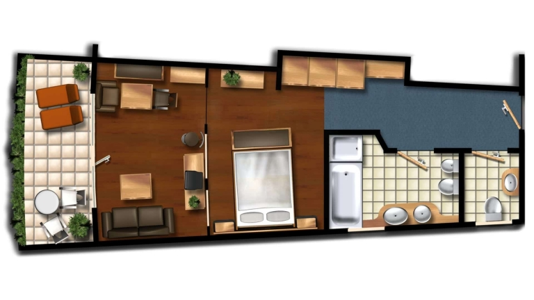 Skizze der Linden Suite