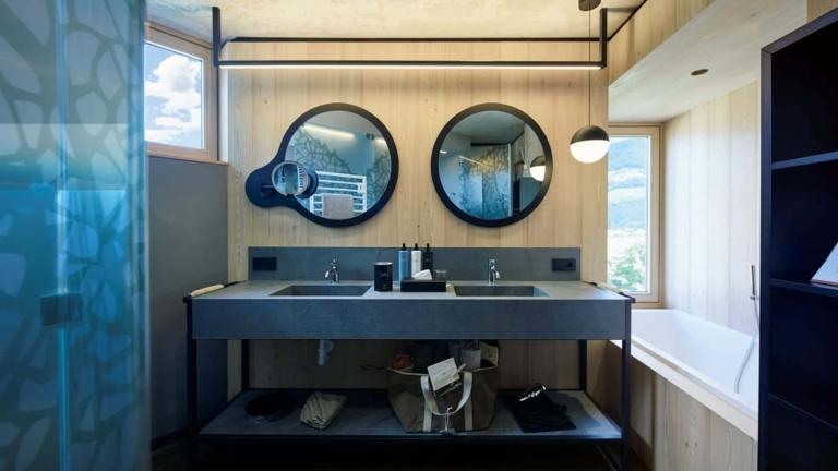Badezimmer in der Nature Suite