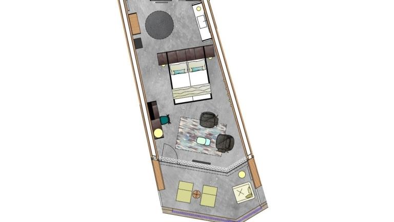 Doppelzimmer Pur Grundriss 2 - Lindenhof