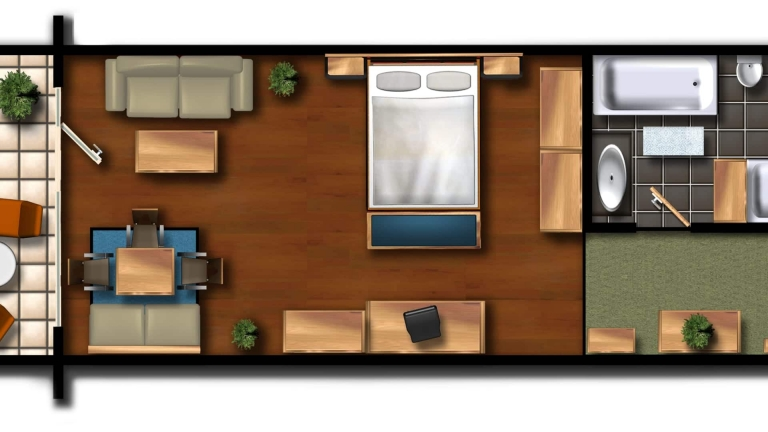 Süd Suite - Grundriss
