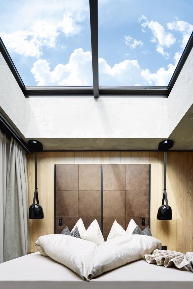 Himmelblick vom Bett aus - Zimmer im Lindenhof