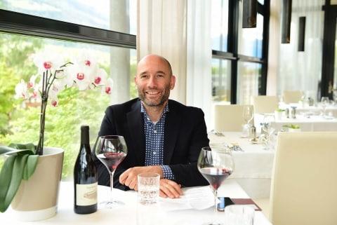 Joachim Nischler beim Interview im Speisesaal
