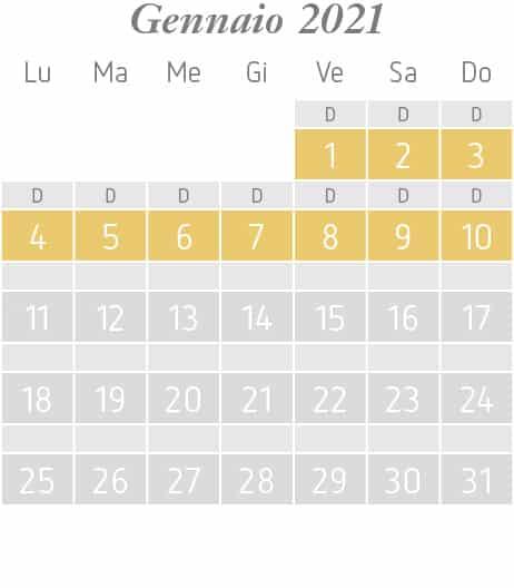 Settimane a tema di gennaio 2021