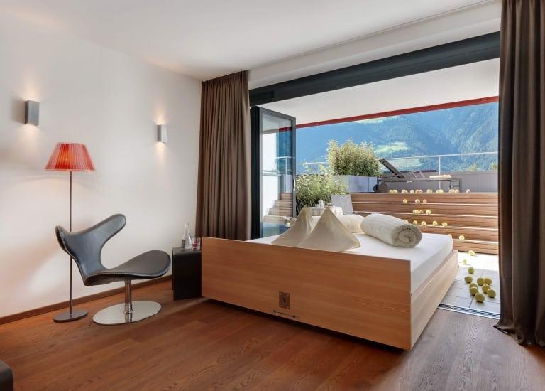 Südzimmer im Lindenhof - Wellnesshotel in Südtirol